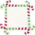 Candy Cane Frame Applique Design