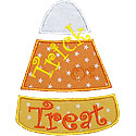 Candy Corn Trick Or Treat Applique Design