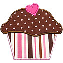 Cupcake Heart Applique Design