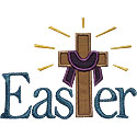 Easter Cross Applique Design