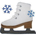 Figure Ice Skate Applique Design