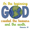 Genesis 1:1 Applique Design