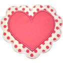 Heart Doily Applique Design