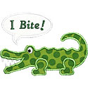 I Bite Alligator Applique Design