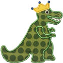 King Queen TRex Applique Design
