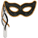 Masquerade Mask Applique Design
