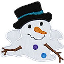 Melted Snowman Applique Design