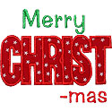 Merry CHRISTmas Applique Design