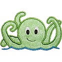 Octopus Applique Design