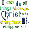 Philippians 4:13 Applique Design