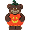 Pumpkin Bear Applique Design
