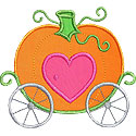 Pumpkin Carriage Applique Design