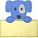 Puppy Note Applique Design
