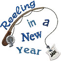 Reeling In A New Year Applique Design