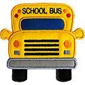 School Bus Front Applique Design
