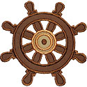 Ship Helm Wheel Applique Design