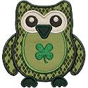 St. Patricks Day Owl Applique Design