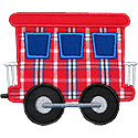Train Caboose Applique Design