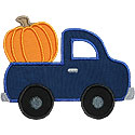 Truck Pumpkin Applique Design