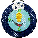 Up At Midnight Clock Applique Design