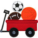 Wagon Sport Balls Applique Design