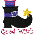 Witch Boot Applique Design