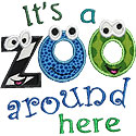 Zoo Around Here Applique Design