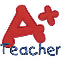 A Plus Teacher Applique Design