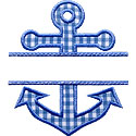 Anchor Name Plate Applique Design