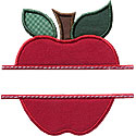 Apple Name Plate Applique Design