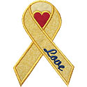 Awareness Ribbon Heart Applique Design
