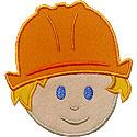 Boy Construction Head Applique Design
