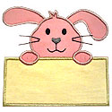 Bunny Note Applique Design