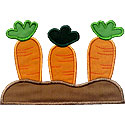 Carrots Garden Applique Design