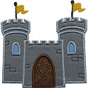 Castle Fortress Applique Design
