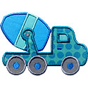 Cement Truck Applique Design