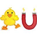 Chick Magnet Applique Design