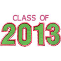 Varsity Class Of 2013 Applique Design
