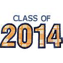 Varsity Class Of 2014 Applique Design