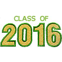 Varsity Class Of 2016 Applique Design