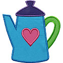 Coffee Pot Applique Design