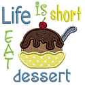Eat Dessert Applique Design