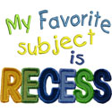 Favorite Recess Applique Design