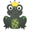 Frog Prince Applique Design