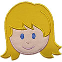 Girl Head Applique Design