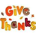 Give Thanks Leaves Applique Design