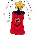 Happy Firecracker Applique Design