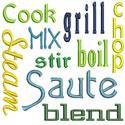 Kitchen Words Applique Design