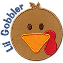 Lil Gobbler Boy Applique Design