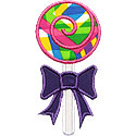 Lollipop Bow Applique Design